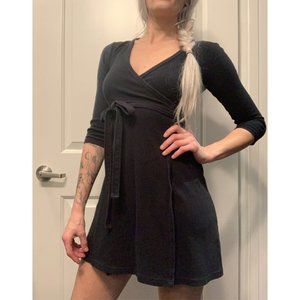 American Apparel Black Margot Jersey Wrap Dress
